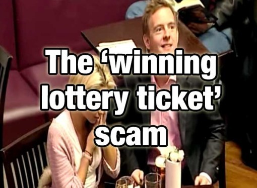The 'winning lottery ticket' scam