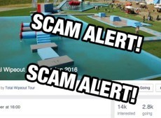 Total Wipeout Scam (yes another stupid Facebook scam)