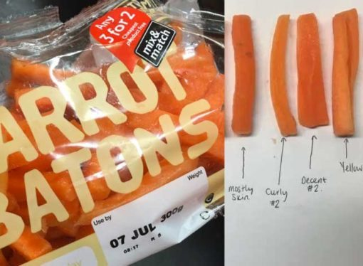 Carrot complaint at Tesco escalates to full blown diagram on Twitter